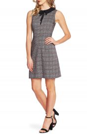 CeCe Contrast Collar Menswear Plaid Dress   Nordstrom at Nordstrom