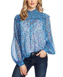 CeCe Ditsy-Print Ruffled Top   Reviews - Tops - Women - Macy s at Macys