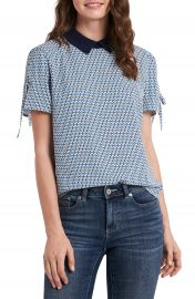 CeCe Geo Collar Blouse   Nordstrom at Nordstrom