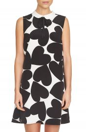 CeCe Heart Print A-Line Dress at Nordstrom