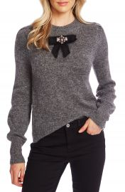 CeCe Jeweled Bow Detail Sweater   Nordstrom at Nordstrom