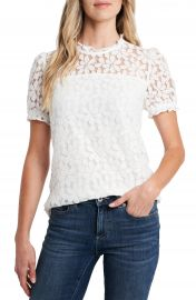 CeCe Puff Sleeve Petal Lace Blouse   Nordstrom at Nordstrom