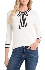CeCe Tie Neck Henley Sweater   Nordstrom at Nordstrom