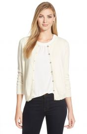 CeCeand160by Cynthia Steffeand160Cotton andamp Cashmere Cardigan in Cream at Nordstrom