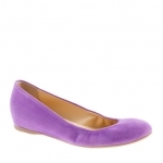 Cece suede flats in fresh plum purple worn on New Girl at J. Crew