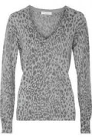 Cecile leopard-print cashmere sweater at The Outnet