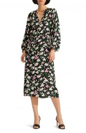 Cecilia Floral Print Midi Dress by Veronica Beard at Nordstrom