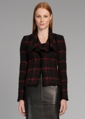 Cecille plaid tweed jacket at Lafayette 148