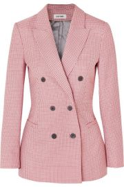 Cefinn - Double-breasted houndstooth wool-blend blazer at Net A Porter