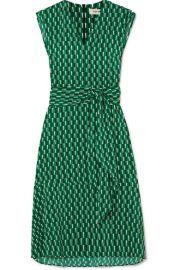 Cefinn - Matilda belted printed crepe midi dress at Net A Porter