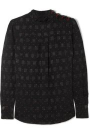 Cefinn - Printed jacquard blouse at Net A Porter