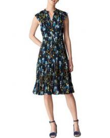 Celia Iris Print Pleated Dress by Whistles at Bloomingdales