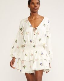 Celia Smocked Waist Mini Dress by Cynthia Rowley at Cynthia Rowley