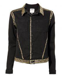 Celine Studded Black Denim Jacket at Intermix