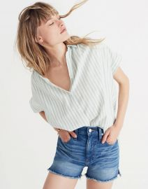 Central Shirt in Mint Stripe by Madewell at Madewell