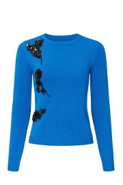 Cerulean Applique Sweater by Prabal Gurung Collective at Rent The Runway