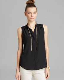 Chain Neck Blouse at Bloomingdales