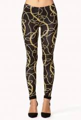 Chain Print Leggings at Forever 21
