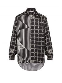 Chain and stripe-print silk shirt givenchy at Matches