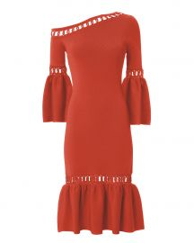 Chainlink Fit-and-Flare Knit Dress at Intermix