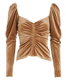 Chamberlain Ruched Velvet Top at Intermix