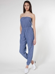 Chambray Jumpsuit at American Apparel