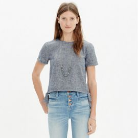 Chambray Side Tie Cropped Tee at Madewell