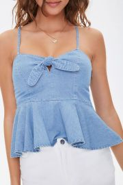 Chambray Tie Bust Cami by Forever 21 at Forever 21