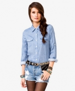 Chambray shirt like Mindys at Forever 21