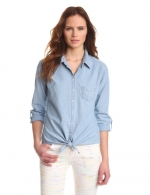 Chambray tie front shirt by CC California at Amazon