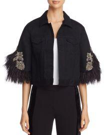 Chandra Embellished Denim Jacket at Bloomingdales