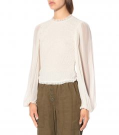 Chandra silk-crepon top at Mytheresa