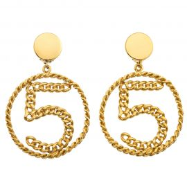 Chanel No 5 Chain Motif Earrings at 1st Dibs