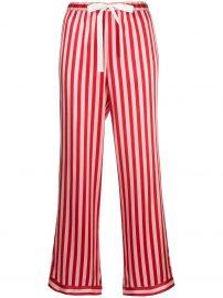 Chantal striped-print trousers at Farfetch