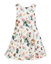 Charabia Mixed Floral Print Sleeveless Dress  Size 5-8 at Neiman Marcus