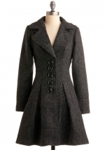 Charcoal coat from Modcloth at Modcloth