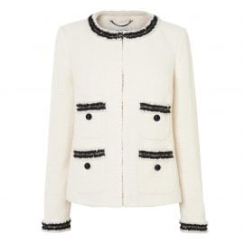 Charl Cream Boucle Jacket by L.K. Bennett at L.K. Bennett