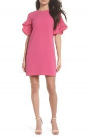 Charles Henry Ruffle Sleeve Shift Dress at Nordstrom