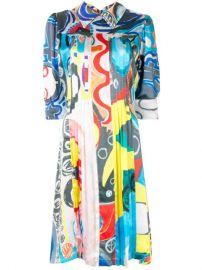 Charles Jeffrey Loverboy Printed Silk Shirt Dress - Farfetch at Farfetch