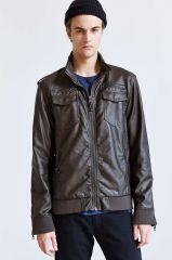 Charles and a half leather moto jacket at Urban Outfitters