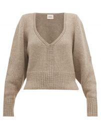 Charlette V-neck Sweater by Khaite at Matches