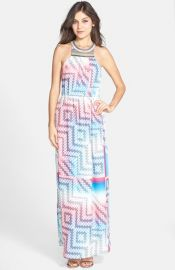 Charlie Jade Beaded Print Maxi Dress at Nordstrom