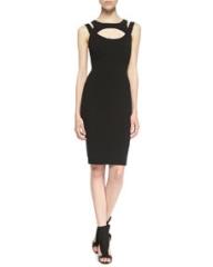 Charlie Jade Elva Cutout Sheath Dress Black at Neiman Marcus