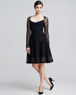Charlottes black lace dress at Neiman Marcus at Neiman Marcus
