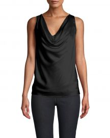 Charmeuse Cowl Neck Blouse by Nicole Miller at Nicole Miller