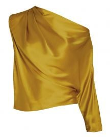 Charmeuse Draped One-Shoulder Top by Michelle Mason at Intermix