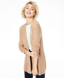 Charter Club Cashmere open cardigan at Macys