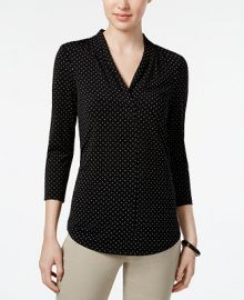 Charter Club Printed V-Neck Top  Created for Macy s   Reviews - Tops - Women - Macy s at Macys