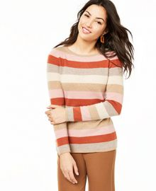 Charter Club Striped Cashmere Sweater  Created For Macy s   Reviews - Sweaters - Women - Macy s at Macys
