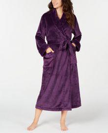 Charter Club Women s Plush Long Robe  Created for Macy s   Reviews - Bras  Panties   Lingerie - Women - Macy s at Macys